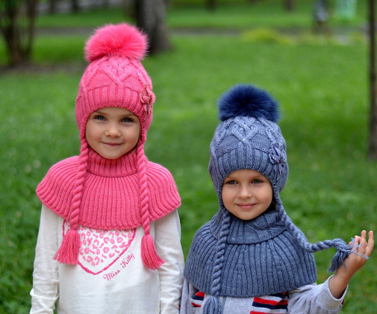 Вязание детской шапочки на девочек 451